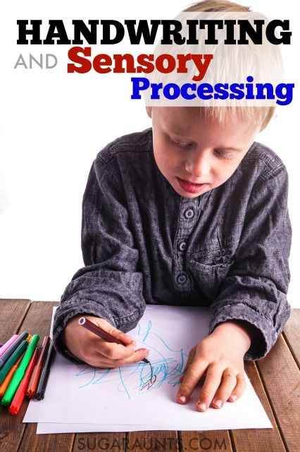 Handwriting and sensory problems and sensory strategies to help with messy handwriting.