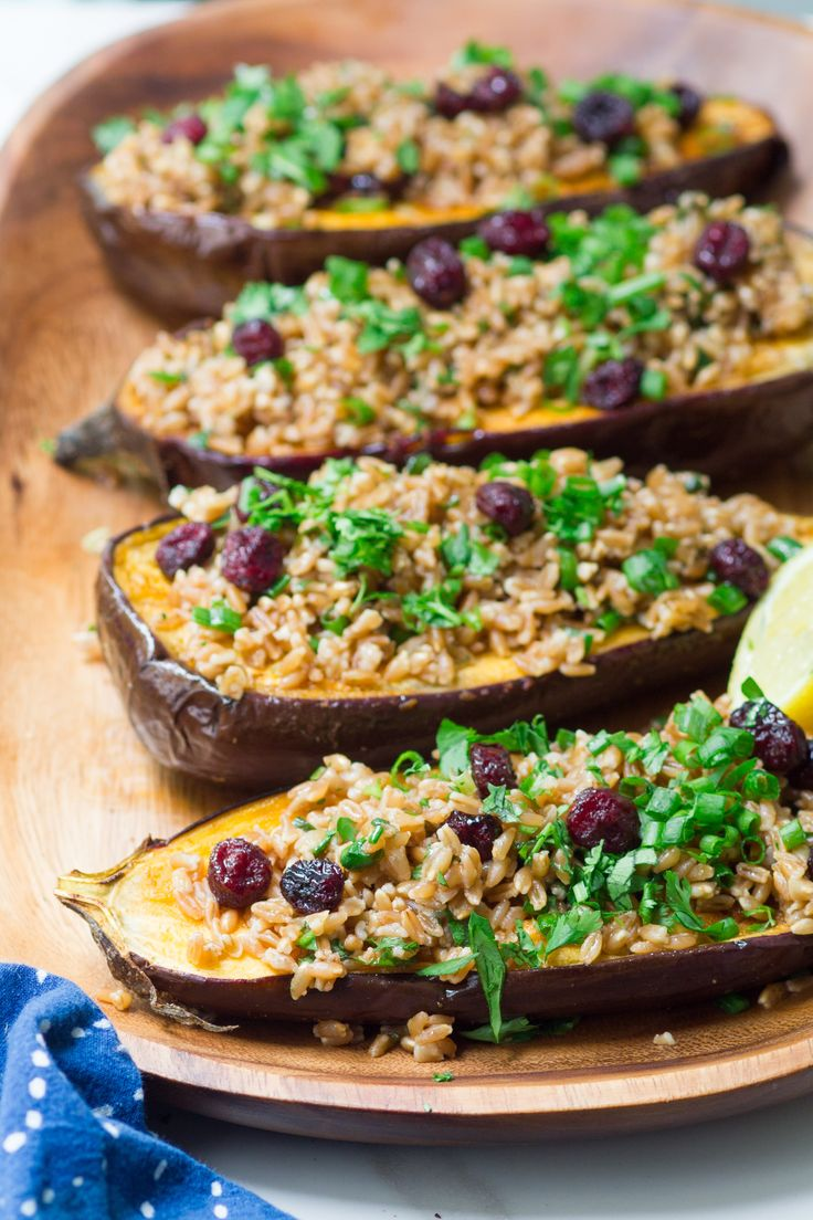 111 best vegetarianvegan jewish recipes images on pinterest spice rubbed eggplant with farro and cranberries forumfinder Gallery