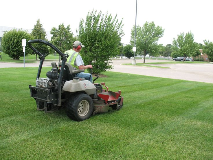 Our lawn manager Mike hard at work on a commercial