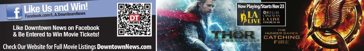 Want to win free movie tickets? Like us on Facebook for your chance to score tickets to some of the hottest films! Previous winners received tickets to The Counselor, Gravity, Prisoners, Carrie, and so many more!  Follow us on Facebook and you could be our next winner! #dtla #la #movies #free #freemovie #thor #endersgame #carrie #gravity