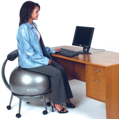 fitball exercise ball chair at amazing and ergonomic