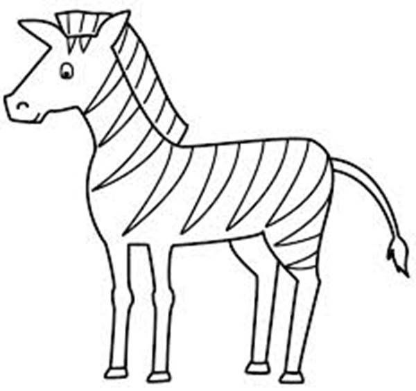 Zebra Without Stripes Coloring Pages In 2020 Easy Coloring Pages Zebra Coloring Pages Horse Coloring Pages