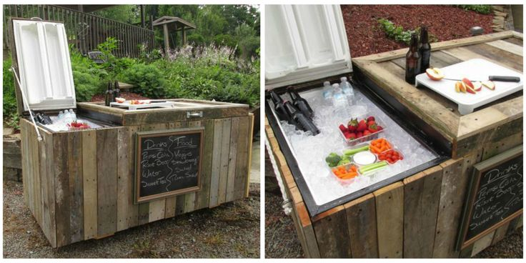 This DIY Rustic Cooler Was Converted From a Broken Refrigerator and It's Amazing
