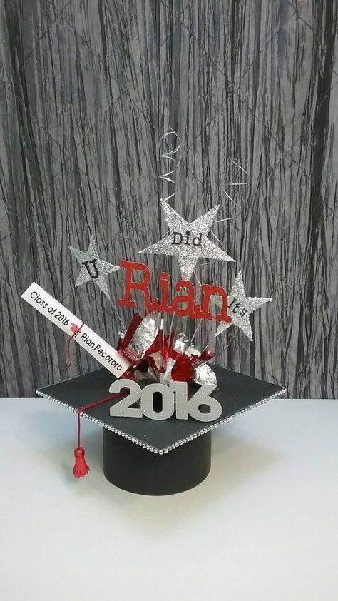 Best graduation centerpieces images on pinterest