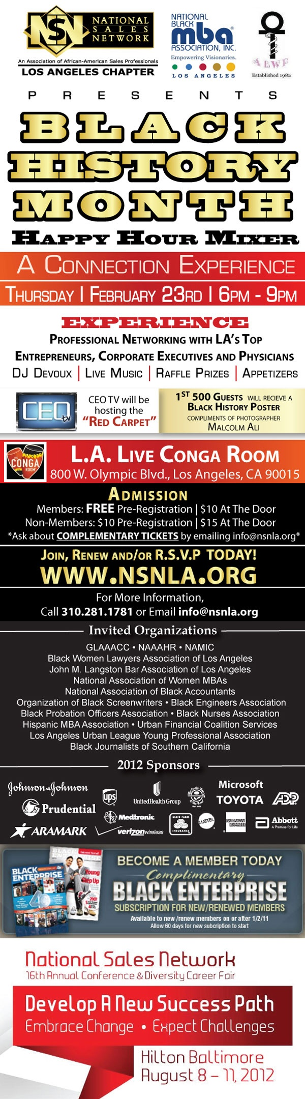Black History Month Happy Hour Mixer at Conga Room at L.A