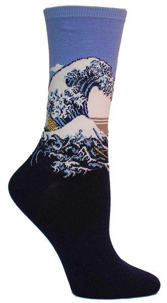 Great Wave Socks | The Sock Drawer