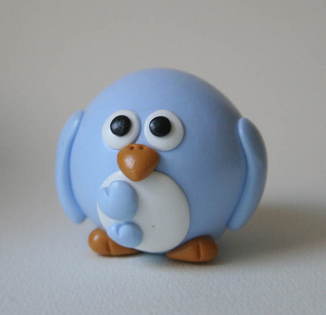 Cute little blue bird