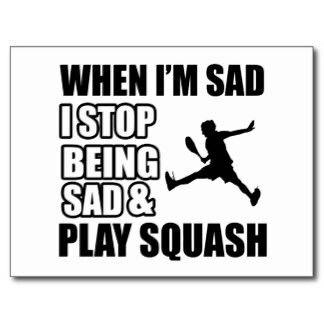 When i'm sad i stop being sad & play #squash
