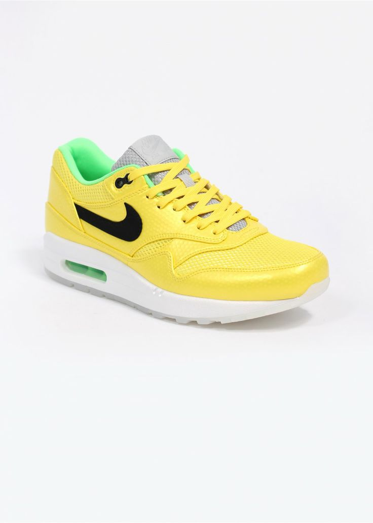 NIKE QUICKSTRIKE AIR MAX 1 FB PREMIUM MERCURIAL QS TRAINERS - VIBRANT  YELLOW / BLACK /
