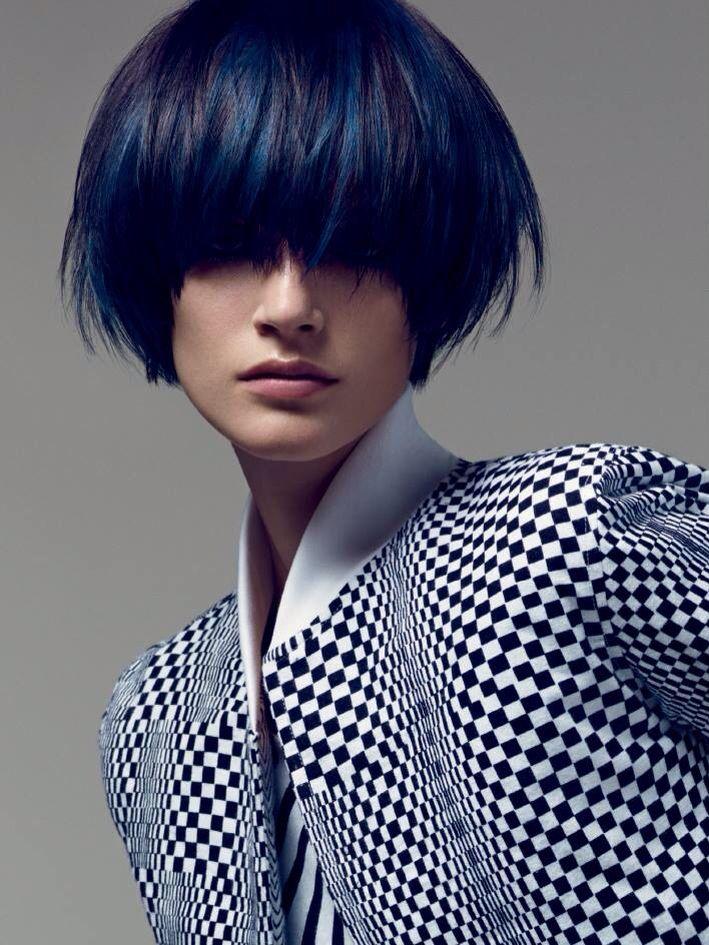 Blue bob from Vidal Sassoon, love it!