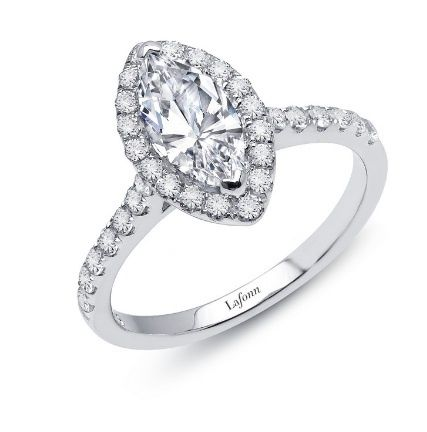Lafonn Marquise Halo Silver Ring
