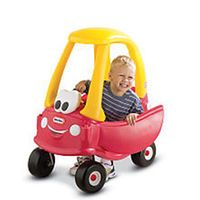 The Little Tikes Cozy Coupe 30th Anniversary Edition has new features, which include a removable floor & handle on back for parent-controlled push rides.