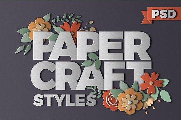 PaperCraft Photoshop Effects by Designdell on @creativemarket