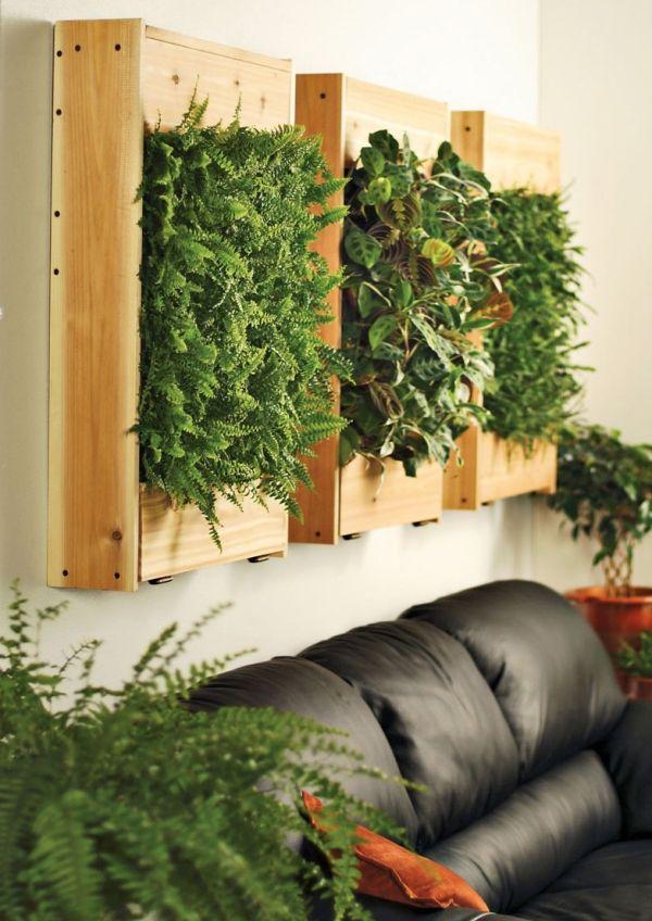 Zielona ściana- vertical wall planters