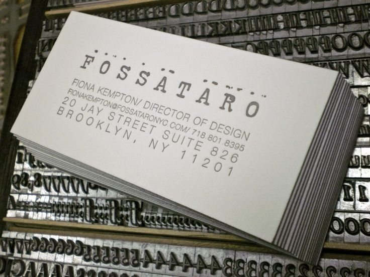 64 best letterpress business cards images on pinterest embossed fossataro letterpress business cards on crane lettra 220 stock with edge painting by slowprint colourmoves