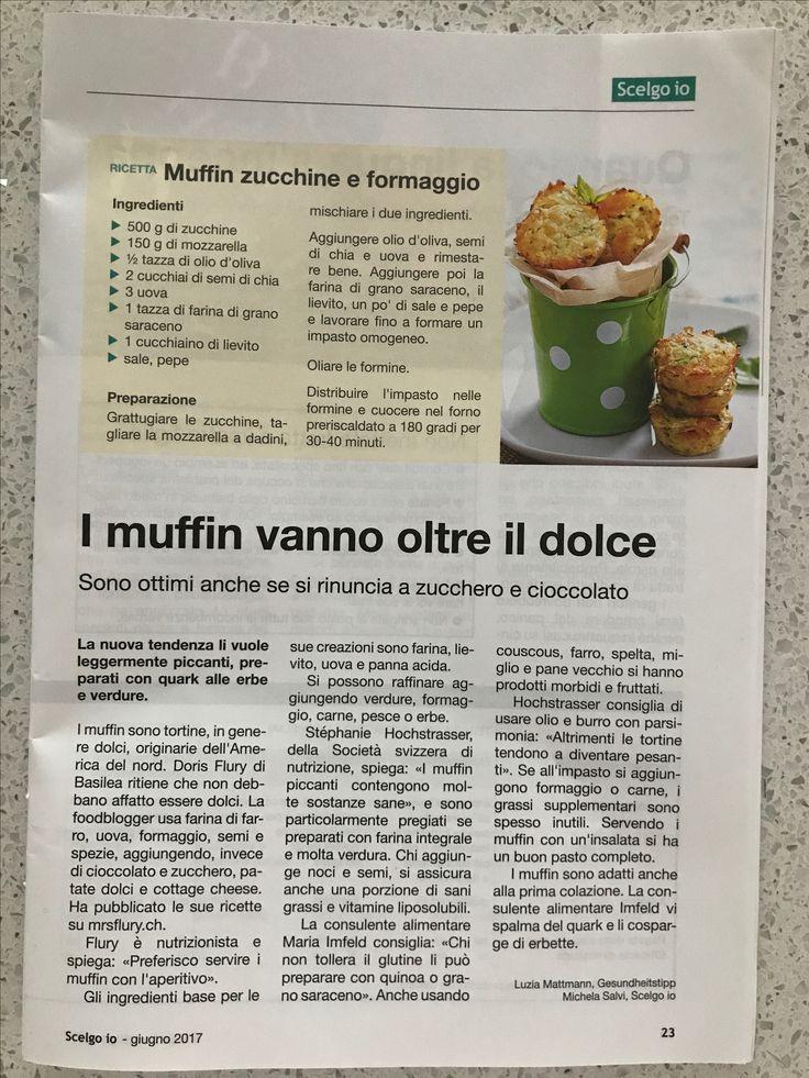 Muffin zucchine e mozzarella