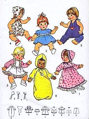 Vintage BABY DOLL Sewing Pattern in 3 SIZES!