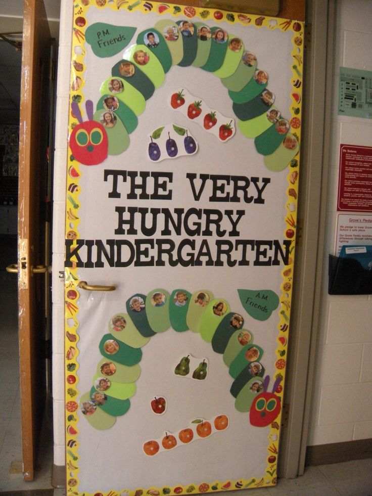 Hungry Caterpillar Classroom Ideas | Door for The Very Hungry Caterpillar theme. AM/PM Class