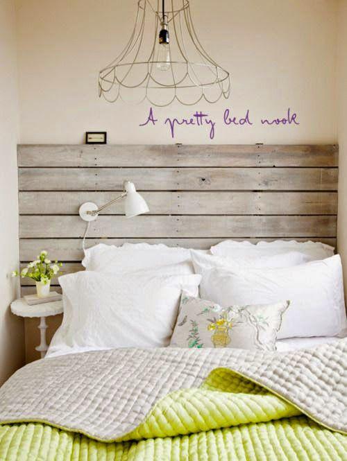 Rustic wood headboard - 10 cabeceiras rústicas pra você se inspirar