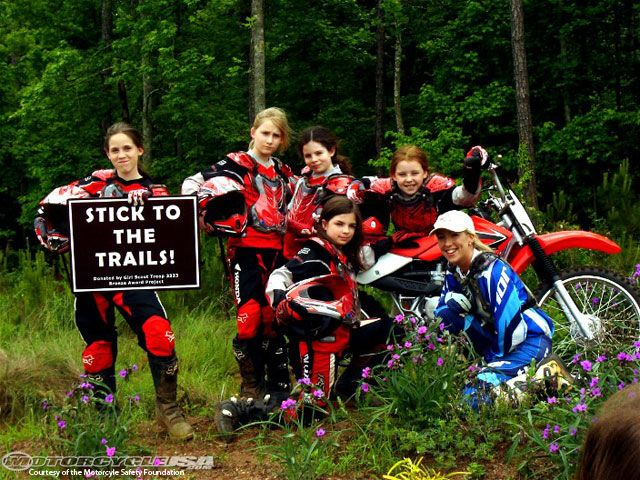 female dirt bike racers | ... by everyone who takes the Dirt Bike School or the ATV RiderCourse