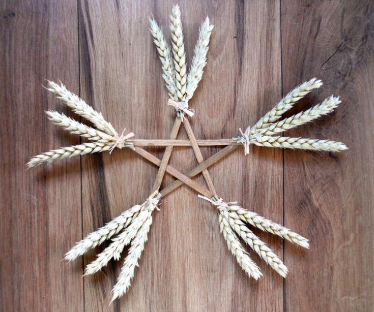Lammas Lughnasadh Wheat & Wicca Altar / Wall Pentagram. Protection and Abundance via Etsy. by PositivelyPagan