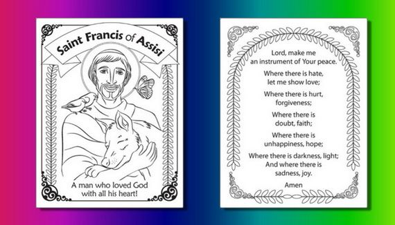 St Francis of Assisi Coloring