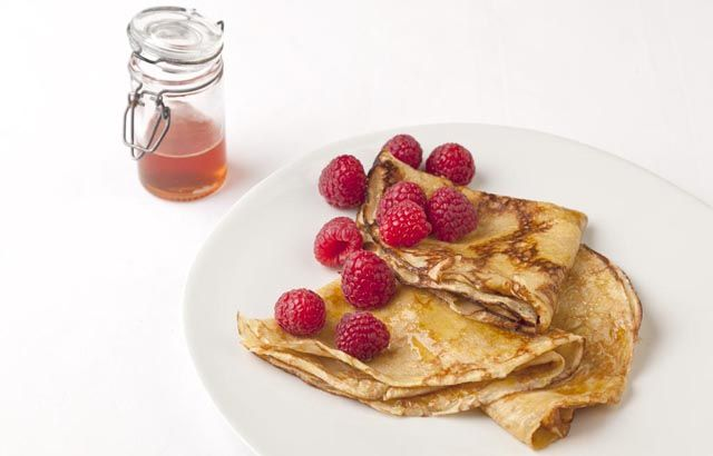 Traditional French crêpes are given a beautiful twist here from Pascal Aussignac who uses some Grand Marnier and a touch of rum to add a subtle depth of flavour to this classic recipe. These crêpes can be enjoyed as a slight variant to pancakes on Shrove Tuesday