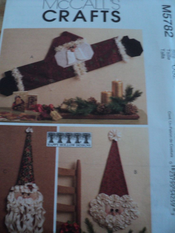 Sewing Pattern Mccalls 5782 Santa Wall Door Decorations Happy Hollow Design 5 Purses