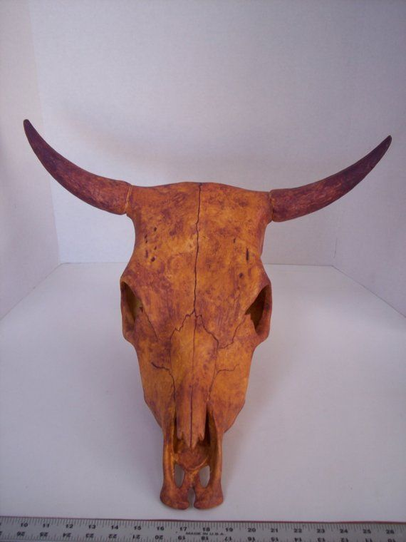 Ceramic Cow Skull Handmade In The Usa By Jcscreativeart On