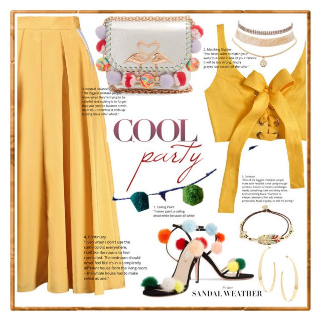 """fiesta en amarillo"" by b-arce-gualde ❤ liked on Polyvore featuring Roksanda, Rigby & Mac, MARA, Fendi, Sophia Webster, Gas Bijoux, Lana and Charlotte Russe"