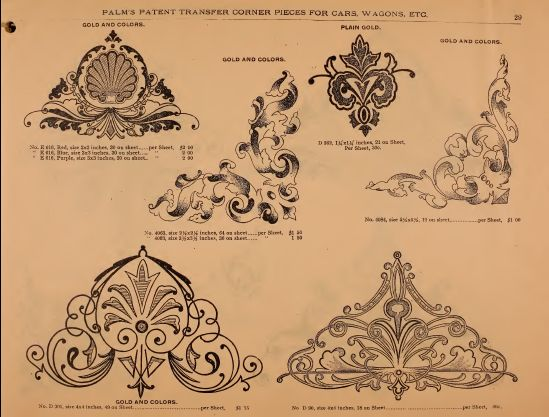 Illustrated sample book & price list of Palm's patent transfer letters, ornaments & trade designs for signs, wagons, cars, machines, etc. : Palm Letter Company, Cincinnati : Free Download & Streaming : Internet Archive