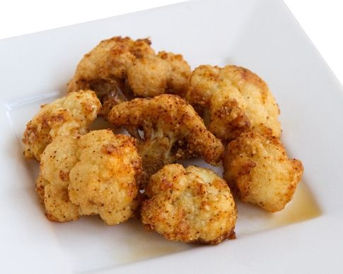 Crispy and Spicy Cauliflower. Only 5g Net Carbs.
