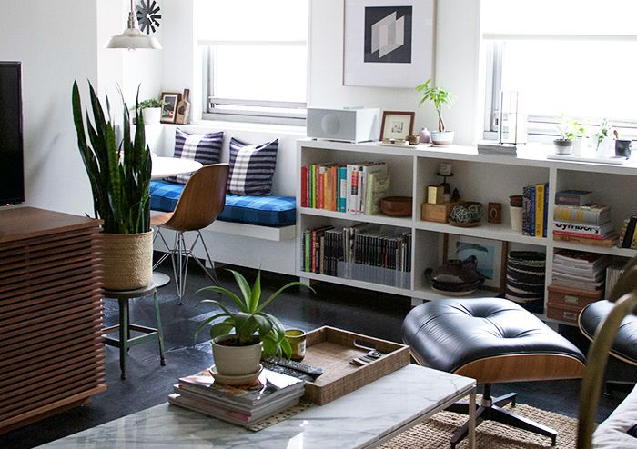 91 best images about under window bookshelf on pinterest for Open concept bookcase