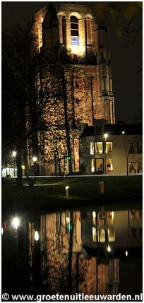 Oldehove @ Night, Leeuwarden, The Netherlands.