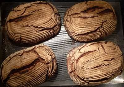 Roggen Sauerteigbrot (traditional German rye sourdough bread)