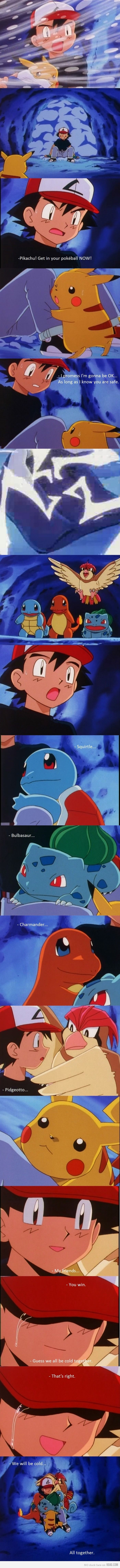 This episode made me cry so bad... Teaching kids what it means to have best friends. (Pokemon) when pokemon episodes were still good.