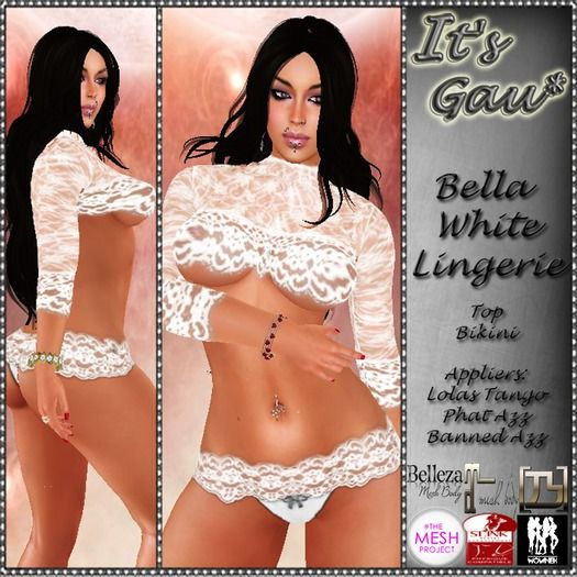 *It's Gau* Bella White Lingerie