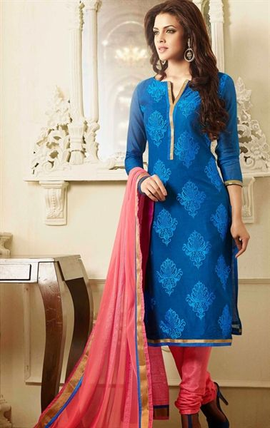 Adorable Blue Color Casual Salwar Kameez