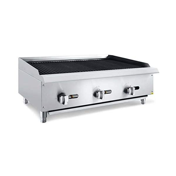 Chef S Exclusive Ce778 Commercial Countertop Stainless Steel 36