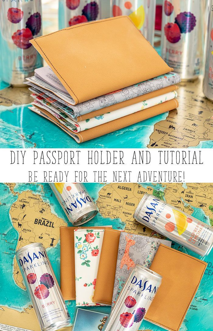 d21a0dc8e414 DIY Passport Holder and sewing tutorial to make your own passport ...