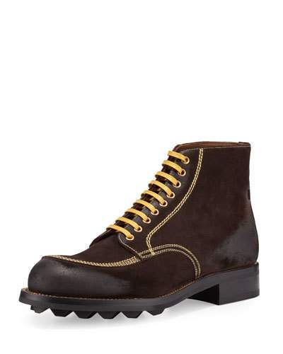 Prada+Contrast+Stitch+Suede+Lace+Up+Boots+Brown+Yellow+|+Footwear