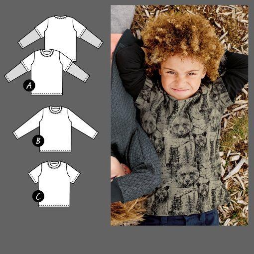 T-Shirt, Schnittmuster bis Gr. 14 Jahre