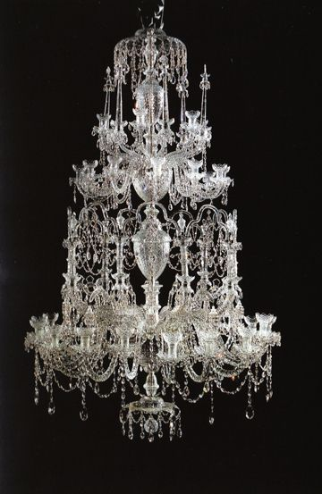 wish these pictures did these exquisite chandeliers justice