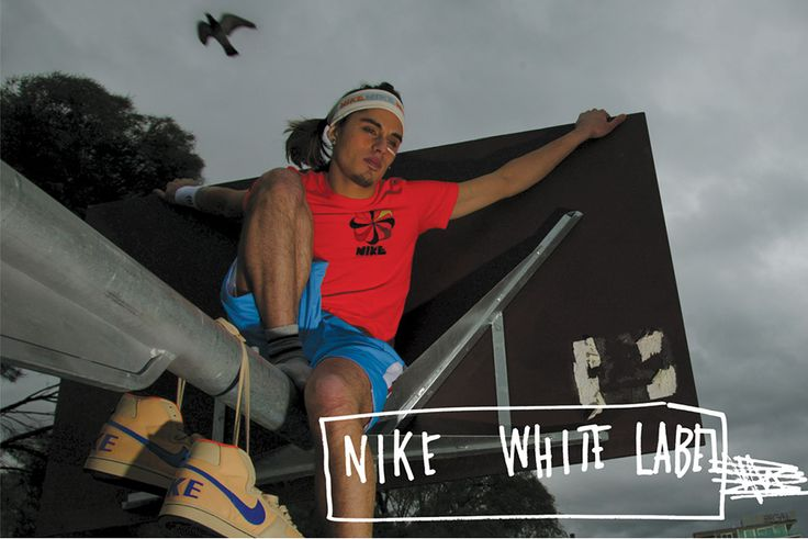 Nike White Label Boy on Basketball Hoop Image by Hoyne Design