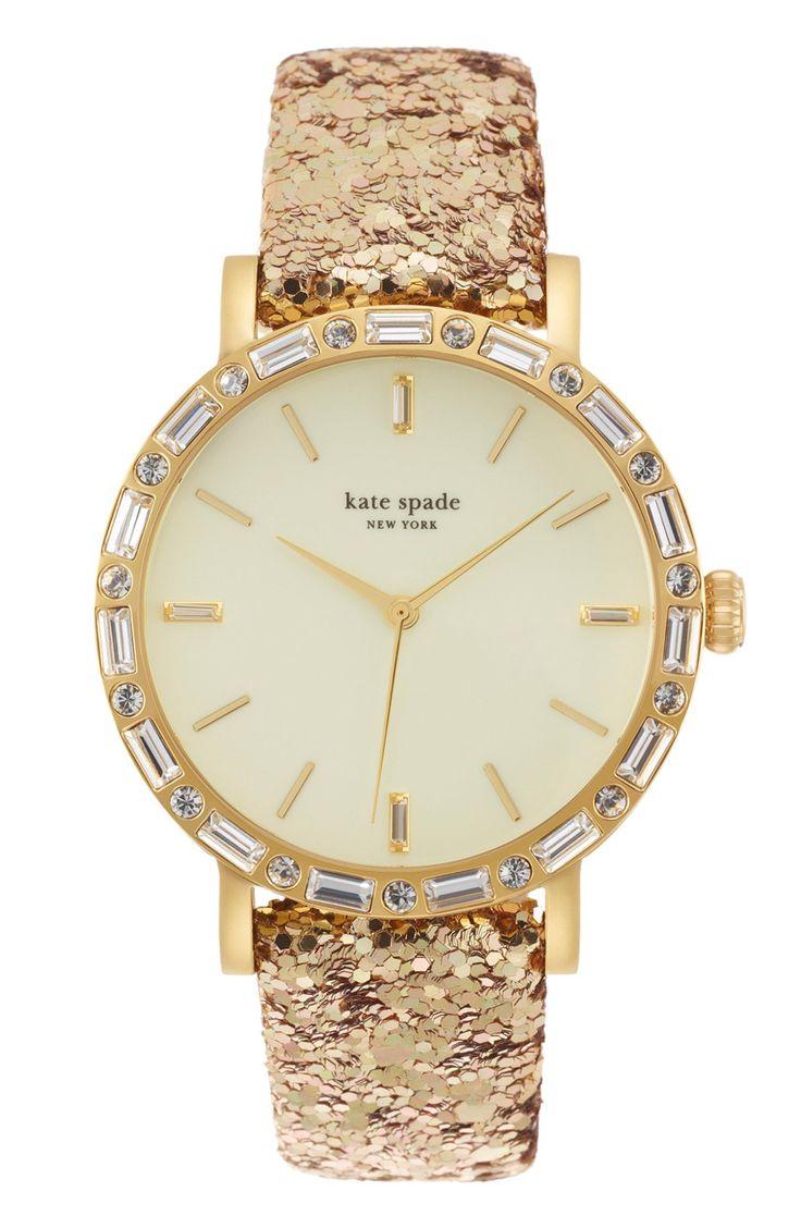 Glitter Kate Spade watch. Dress it up or dress it down.