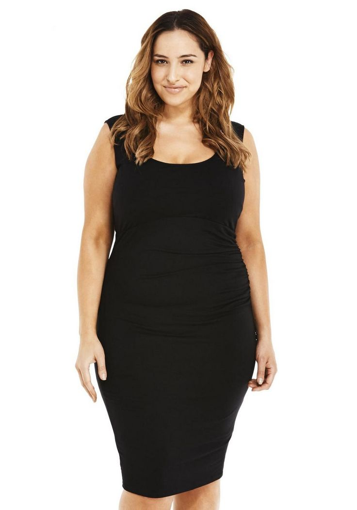 Zelda ruched bodycon dress plus size for pear