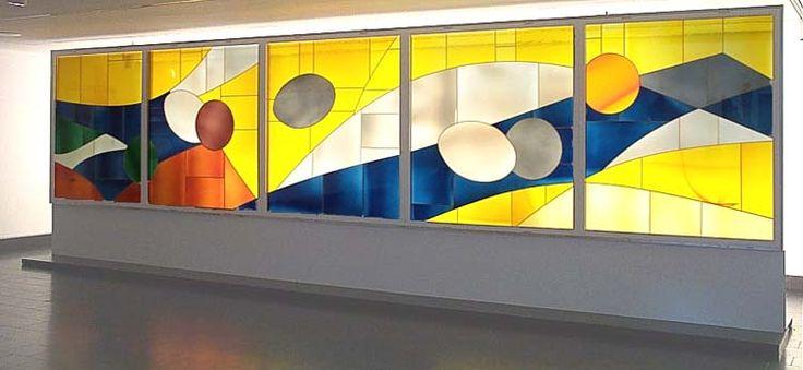 Marcelle Ferron, sans titre, vitrail, Musée des Beaux-Arts de Montréal. Follow the biggest painting board on Pinterest: www.pinterest.com/atelierbeauvoir