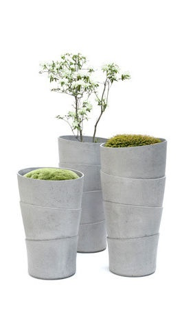 Tall planters on the bias
