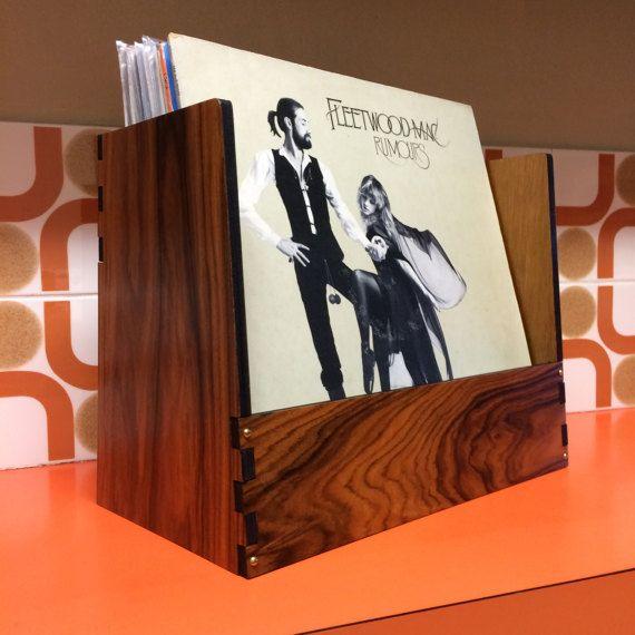 Brazilian Rosewood. Record Crate Elite limited edition by WahwahMan Vinyl storage Decor Item #vinyl #brazilianrosewood #record #album #lp #recordbin #recordcrate #recordbox #homedecor #70s #decor #recordstorage