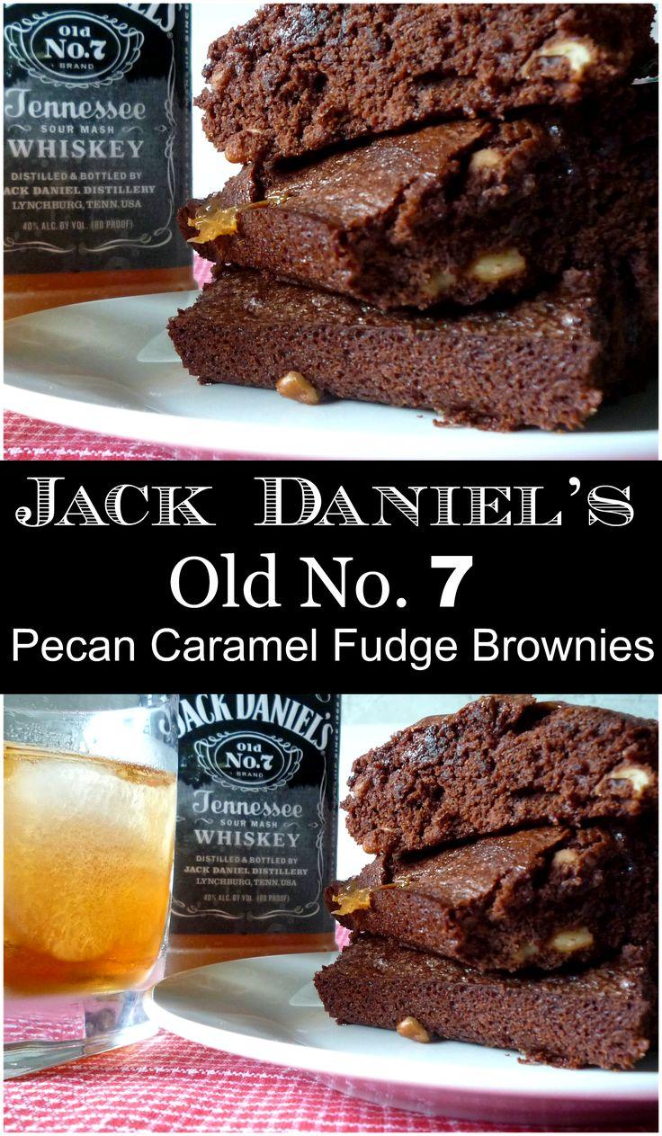 JACK DANIEL'S PECAN CARAMEL FUDGE BROWNIES